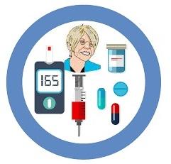 Santé des seniors:  maladies endocriniennes des troubles du diabète