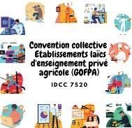 Mutuelle entreprise –  Convention collective établissements laïcs d'enseignement privé agricole (GOFPA) - IDCC 7520