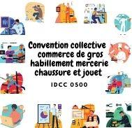 Mutuelle entreprise – Convention ccollective commerce de gros habillement mercerie chaussure et jouet – IDCC 0500