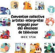 Mutuelle entreprise – Convention collective artistes-interprètes engagés pour des émissions de télévision – IDCC 1734