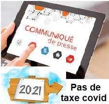 Organismes de mutuelles et Taxe Covid:  aucune augmentation  en 2021 !